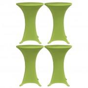 vidaXL Husă elastică pentru masă, 4 buc., verde, 60 cm