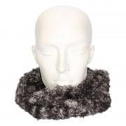 Merkloos Grijs/luipaard fleece ronde col sjaal voor volwassenen