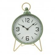 Mauro Ferretti Zelené stolní hodiny s detaily ve zlaté barvě Mauro Ferretti Glam