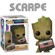 Funko Pop Baby Groot With Cassette Awesome Mixtape Exclusivo