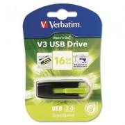 Store 'n' Go V3 Usb 3.0 Drive, 16gb, Black/green