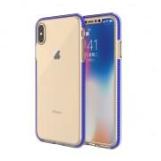 GadgetBay Coque de protection colorée pour iPhone XS Max Coque arrière TPE TPU - Bleu