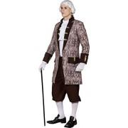 Fancy Me Chamarra para Hombre, diseño Barroco renacentista, para Halloween, Estilo histórico, para Disfraz de Halloween, M-XXL, Plateado, Extra Large (EU 54-56)