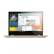 "Хибриден лаптоп Lenovo Yoga 520(80X800M6BM)(златист), двуядрен Kaby Lake Intel Core i3-7100U 2.40GHz, 14"" (35.56 cm) Full HD IPS сензорен дисплей(HDMI), 4GB DDR4, 128GB SSD M.2, 1x USB 3.1 Type C, Windows 10 Home, 1.74 Kg"