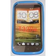 Силиконов гръб ТПУ за HTC Desire V T328w Син