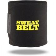 New Premium Sweat Waist Trimmer Fat Burner Belly Tummy Yoga Wrap Black Exercise Body Slim look Belt Free Size SWEAT BELT