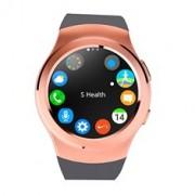 Reloj inteligente vernier smartwatch dorado oro bt 4.0 / tarjeta sim/ pulsometro/ podometro
