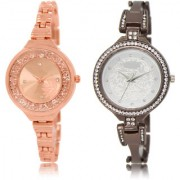 The Shopoholic Rose Gold Silver Combo New Collection Rose Gold And Silver Dial Analog Watch For Girls For Watches Women