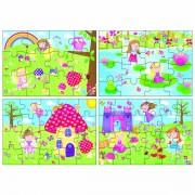 Set 4 puzzle-uri Zane, 12, 16, 20, 24 piese