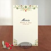 Meniu nunta Florile dragostei A020