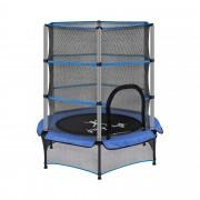 Trampoline pour enfants avec filet de sécurité - 140 cm - 50 kg - Bleu
