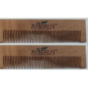 NERR Neem Wood Comb (set of 2) 100 Handemade Anti-Dandruff Comb (Buy Original Comb only from NERR Instant Hair Volu