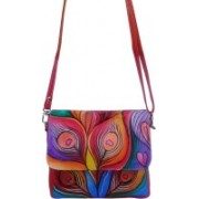 EL Mio Women Evening/Party, Casual Multicolor Genuine Leather Sling Bag