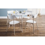 Casa Retro Look Dining Set With Chairs - Table with 4 Chairs