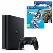 Конзола PlayStation 4 Slim 500GB Black, Sony PS4+Игра FIFA 19 за PlayStation 4 - PS4+Игра Far Cry 5 за PlayStation 4