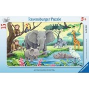 Puzzle RavensBurger Animale din Africa 15 piese