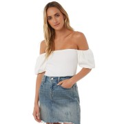 The Hidden Way Pretty Daze Off The Shoulder Top White