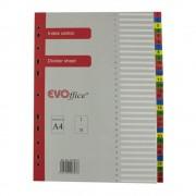 Index din Carton EVOffice, Numerotat de la 1 la 31, Format A4, Despartitoare din Carton, Indecsi Bibliorafturi - Separatoare din Carton