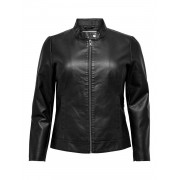 Carmakoma (Maatje Meer) Carrobber Faux Leather Jacket Noos - zwart - Size: 46