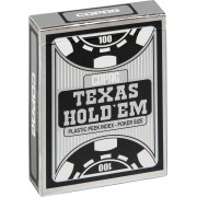 Plastic speelkaarten Texas Hold'em Zwart - Peek Index - Copag