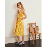 Boden Sonnengelb, Verstreute Tupfen Tess Neckholder-Jerseykleid Damen Boden, 36 PET, Yellow