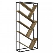 [en.casa]® Könyvespolc design polcrendszer tárolófelület 180 x 80 x 30 faszín