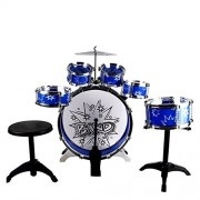 Kids Drums Kit, Musical Instrument Toy with Cymbals Stool Drum Kit for Kids Christmas Birthday Gift Kids Drum Set Musical Instrument Toy 11pc