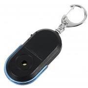 EW Alarma Anti-Lost Key Finder silbato útil luz LED llavero localizador