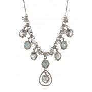 Marchesa Crystal Statement Necklace RHODIUM