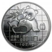 Panda Stříbrná mince 10 Yuan China 1 Oz 1989