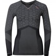 Odlo Langarmshirt, Funktionsshirt Odlo Damen Funktionsshirt Blackcomb Evolution Warm grau L grau
