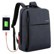 Shinlee Multi-function Business Casual Backpack Hand Laptop Tablet Bag for 15.6 inch and Below External USB Charging Port & Earphone Port(Dark Blue)