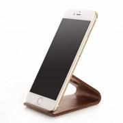 Samdi Wooden Phone Stand (iPhone) - Mörkbrun