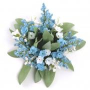 Ljusmanschett blå blommor