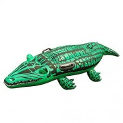 Super Safe 51 X 16 Giant Gator Ride-On Inflatable Swimming Equipment for The Kids in The Pool