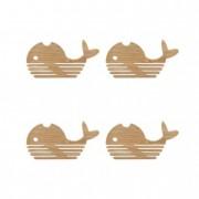 Poháralátét, bálna (4 db/szett)