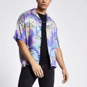 River Island Mens Jaded London Purple print regular fit shirt (M)