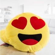 Emoji Hjärtögon Kudde