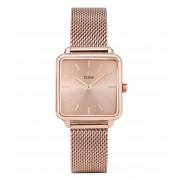 CLUSE Horloges La Tetragone Mesh Full Rose Gold Plated Roségoudkleurig