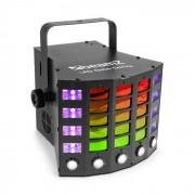 Beamz Gobo Derby Reflector 3 en 1 LED RGBAW UV 60 W DMX Standalone Sound (153.708)