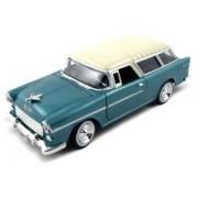 1955 Chevrolet Nomad Diecast Car Model 1/24 Green Die Cast Car by Motormax