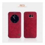 Samsung Galaxy S7 Edge Serie Qin Funda De Cuero Inteligente Rojo
