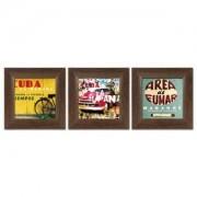 Kuba Triptih, 3 uramljene slike