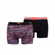 Puma Spacedye Stripe Boxershorts Blue/Orange 2-pack-S