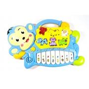 ElectroBot Cute Monkey Musical Piano With 3 Modes Animal Sounds, Flashing Lights & Wonderful Music