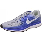 Nike Men's Air Zoom Pegasus 34 Grey Blue Running Shoes(880555-007) (UK-9 (US-10))