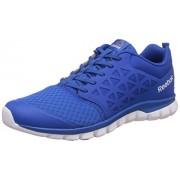 Reebok Men's Sublite Xt Cushion 2.0 Blue, Wht, Blk and Pwtr Running Shoes - 6 UK/India (39 EU)(7 US)
