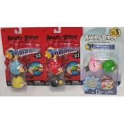 6 Angry Birds Mashems Figures Pink Stella Bird, Pig, Blue Bird, Yellow Bird, Red Bird, Black Bird Series 1 and 3 Mash'Ems Collection Bundle by Tech4Kids