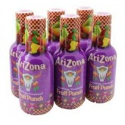 ARIZONA Fruit Punch Bevanda Naturale A Base Di Succhi Di Frutta Mista 6X500Ml