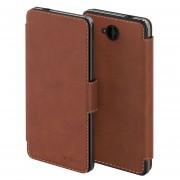 Husa Premium Mozo Book Thin Flip pentru Microsoft Lumia 650, Cognac